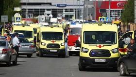 Xe cấp cứu được điều tới hiện trường vụ việc. Ảnh: Getty Images