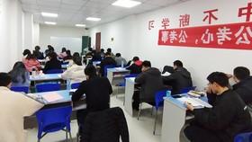 Các ứng viên tham gia thi tuyển công chức tại Trung Quốc