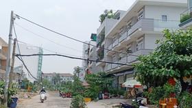 Đường D6 Khu dân cư Nam Long (quận 7)  được mở rộng từ 2m lên 24m