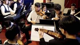 Dàn nhạc Sen Hồng trong một buổi biểu diễn đầu năm 2021