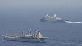 Ấn Độ cùng 3 nước châu Âu diễn tập hải quân