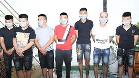 Các đối tượng bị công an bắt giữ