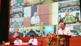Bộ trưởng Bộ VHTT&DL Nguyễn Văn Hùng phát biểu tại Hội nghị. Ảnh: VGP