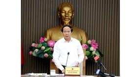 Phó Thủ tướng Chính phủ Lê Văn Thành phát biểu kết luận cuộc họp