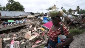 Cảnh đổ nát sau trận động đất tại Les Cayes, Haiti.