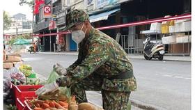 Áo lính góp phần an dân
