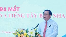 Đồng chí Nguyễn Trọng Nghĩa, Bí thư Trung ương Đảng, Trưởng Ban Tuyên giáo Trung ương phát biểu tại lễ ra mắt. Ảnh: TTXVN