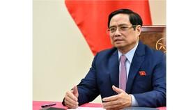 Tại Hội nghị thượng đỉnh thương mại dịch vụ toàn cầu năm 2021, Thủ tướng Phạm Minh Chính sẽ có bài  phát biểu quan trọng về quan điểm của Việt Nam đối với sự phát triển kinh tế số, công nghệ số và hợp tác quốc tế trong lĩnh vực này. Ảnh: VGP
