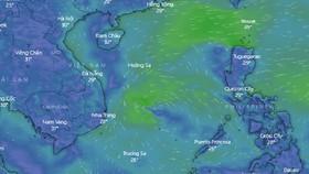 Xuất hiện áp thấp ở Biển Đông