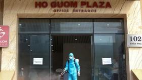 Chung cư Hồ Gươm phải phong tỏa do liên quan đến Giám đốc Handico. Ảnh: Zing