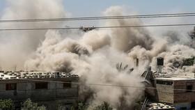 Israel không kích Rafah, phía nam Dải Gaza ngày 18/5/2021. Ảnh: Timesofisrael.