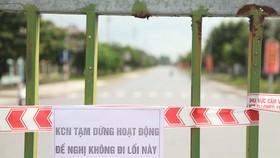 Bắc Giang đang phải dừng hoạt động 4 khu công nghiệp để khoanh vùng dập dịch Covid-19. Ảnh: TP