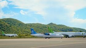 Các chuyến bay đến Côn Đảo được tạm dừng từ chiều 3-6, để phòng chống dịch Covid-19. Ảnh: Vietnamplus.