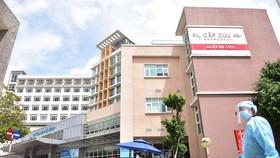 Bệnh viện Quốc tế City (quận Bình Tân) tham gia điều trị COVID-19 để giảm tải cho hệ thống y tế công lập. Ảnh: Ngọc Phượng.