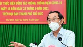 Bí thư Thành ủy TPHCM Nguyễn Văn Nên phát biểu tại Hội nghị. Ảnh: Việt Dũng