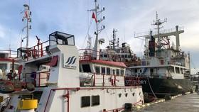 Khu vực bến cầu cảng Công ty TNHH Hà Lộc bị lực lượng chức năng phong tỏa, khám xét. Ảnh: B.A