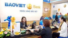Customers are being served at BaoVietBank.