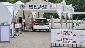 Một địa điểm xét nghiệm virus gây Covid-19 tại TP Almaty - Kazakhstan. Ảnh: Almaz Kumenov