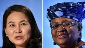 Bà Yoo Myung-hee của Hàn Quốc (trái) và bà Ngozi Okonjo-Iweala của Nigeria sẽ  tranh cử để trở thành tổng giám đốc tiếp theo của WTO. Ảnh: AFP