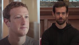 Ông chủ Facebook (trái) và Twitter.