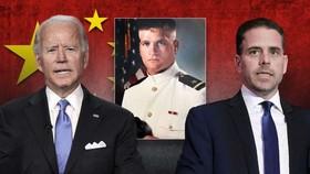 Tony Bobulinski (giữa) và cha con nhà Biden. Ảnh minh họa: Fox News