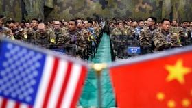 Quân đội Hoa Kỳ và quân nhân PLA Trung Quốc tham dự một cuộc trao đổi về quản lý thảm họa gần Nam Kinh, Trung Quốc, 17-11-2018 Ảnh: Aly Song / Reuters