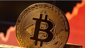 Một hình đại diện của tiền ảo Bitcoin được nhìn thấy phía trước biểu đồ chứng khoán trong hình minh họa này được chụp vào ngày 19 tháng 11 năm 2020. REUTERS / Dado Ruvic / Illustration / File Photo