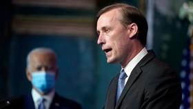 Jake Sullivan phát biểu trước quốc gia hôm 24-11-2020 tại Wilmington, Delaware Ảnh: AP