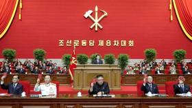 Nhà lãnh đạo Triều Tiên Kim Jong Un trong ngày đầu tiên của cuộc họp đại hội đảng ở Bình Nhưỡng hôm 5/1/2021. ẢNH: KCNA / REUTERS