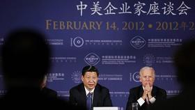 Chủ tịch TQ Tập Cận Bình và ông Joe Biden trong một sự kiện năm 2012. Ảnh: Reuters