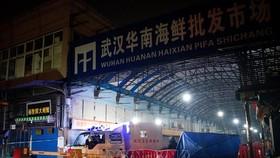 Khu chợ hải sản Hoa Nam ở thành phố Vũ Hán, Trung Quốc, đóng cửa sau khi phát hiện trường hợp nhiễm virus SARS-CoV-2, ngày 11/1/2020. Ảnh: AFP/TTXVN
