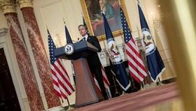 Antony Blinken, Ngoại trưởng Hoa Kỳ, nói Mỹ sẽ buộc Bắc Kinh phải chịu trách nhiệm về việc lạm dụng hệ thống quốc tế của họ. © Pool / AFP via Getty Images