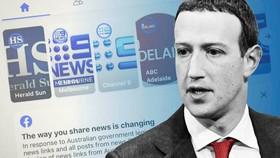 Mark Zuckerberg của Facebook đã tổ chức các cuộc họp với các quan chức Australia vào tháng trước trước. © FT Montage