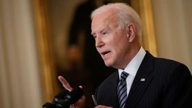 Tổng thống Joe Biden phát biểu tại Phòng phía Đông của Nhà Trắng vào thứ Năm 18/3 ở Washington, D.C. (Drew Angerer / Getty Images)