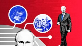 © FT montage; Getty Images; AP | The Russians are suspected of stirring dissent about US politics and the coronavirus