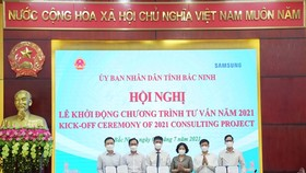Samsung Vietnam and Bắc Ninh Province kicked off phase 1 of the Việt Nam Enterprise Improvement Consultancy Project. — Photo courtesy of Samsung Vietnam
