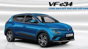 Vinfast's first electric vehicle (EV) model VF e34. (Photo: VinGroup)
