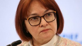 Elvira Nabiullina, Russia's central bank governor. The Bank of Russia said indebted countries could struggle to service their debt and a significant financial crisis could begin in the global economy in the first quarter of 2023 © Bloomberg
