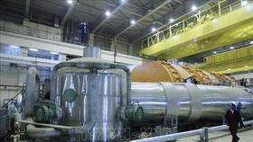 Bên trong một nhà máy điện hạt nhân ở miền Nam Iran. Ảnh: AFP/TTXVN