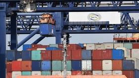 Bốc dỡ container hàng hóa tại cảng Botany ở Sydney, Australia. Ảnh: AFP/TTXVN