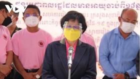 Bà Or Vandine, Quốc vụ khanh Bộ Y tế kiêm Chủ tịch ủy ban tiêm chủng Covid-19 của Campuchia.