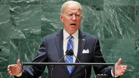 Tổng thống Joe Biden phát biểu trong phiên họp thứ 76 của Đại hội đồng Liên hợp quốc tại trụ sở New York vào thứ Ba (21/9). Ảnh: AP.