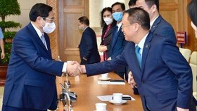 The Vietnamese Prime Minister pledges fair business environment for private sector. | Photo: Twitter @Hanoitimes2