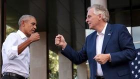 Barack Obama phát biểu tranh cử cho Terry McAuliffe. Ảnh: The Hill.