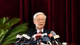 Tổng Bí thư Nguyễn Phú Trọng phát biểu khai mạc Hội nghị Trung ương 5. Ảnh: VGP