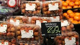 Vải thiều Lục Ngạn (Bắc Giang) đầu tiên đã chính thức lên quầy kệ tại hệ thống các siêu thị Thái Lan