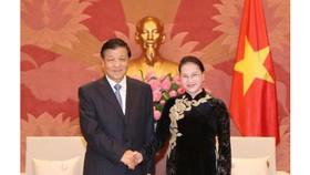 Chủ tịch Quốc hội Nguyễn Thị Kim Ngân tiếp đồng chí Lưu Vân Sơn, Ủy viên Ban Thường vụ Bộ Chính trị, Bí thư Ban Bí thư Trung ương Đảng Cộng sản Trung Quốc