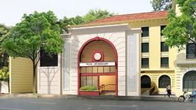 Phối cảnh một cửa lên của nhà ga C9 trên đường Đinh Tiên Hoàng.