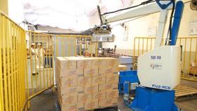 Robot làm việc trong dây chuyền sản xuất tại một doanh nghiệp ở TPHCM  Ảnh: CAO THĂNG