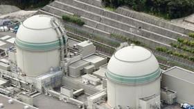 Lò phản ứng số 3 (trái) tại nhà máy điện Takahama thuộc tỉnh Fukui, Nhật Bản. (Nguồn: Kyodo/TTXVN)